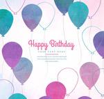 生日气球贺卡
