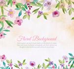 水彩绘花卉框架背景