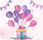 系满气球的生日礼盒