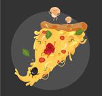 卡通三角披萨