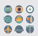 圆形旅行图标