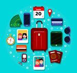 彩色旅行物品图标