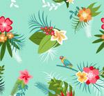 热带花束无缝背景