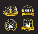 扁平化啤酒节标签