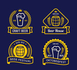 精美啤酒节标签