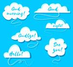 白色云朵语言气泡