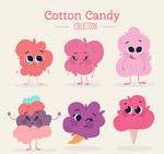 可爱表情棉花糖