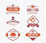 扁平化餐馆标志