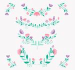 彩绘花卉花边