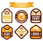 啤酒节徽章矢量
