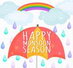 雨季雨中的伞
