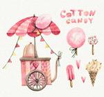 粉色棉花糖车