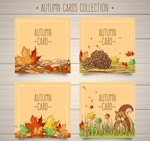 彩绘秋季卡片