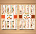 彩色秋季花纹卡片