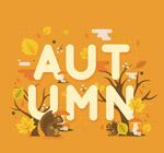 秋季艺术字矢量