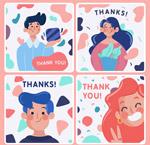 人物感谢卡片