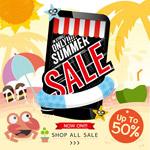 手机夏季促销海报