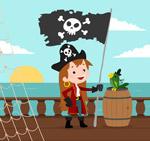 创意海盗女孩