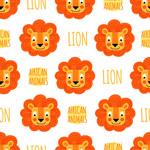 狮子头像无缝背景