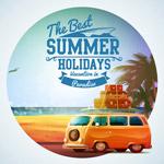 海滩度假车海报
