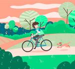 骑单车的男子