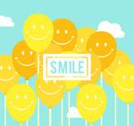 黄色微笑气球