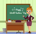 教学中的女教师