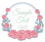 粉色玫瑰花框架