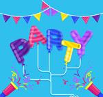 派对艺术字气球