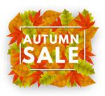 秋季树叶销售艺术字
