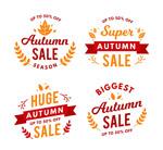 秋季促销标签矢量