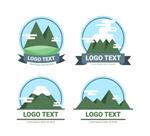 绿色山脉标志