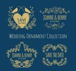婚礼花纹装饰标签