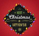 圣诞新年菱形标签