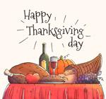 感恩节餐桌矢量