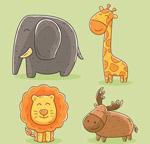 彩绘野生动物