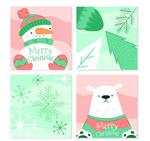 手绘圣诞节卡片