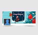圣诞节猫咪脸书封面