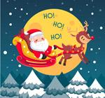 圣诞夜空圣诞老人