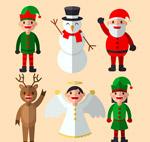 扁平化圣诞角色