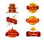 感恩节标签矢量