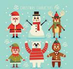 雪中的圣诞角色