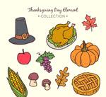 彩绘感恩节元素