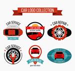 时尚车元素标志