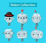 机器人头像矢量