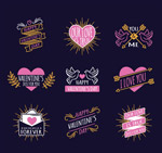 紫色情人节标签