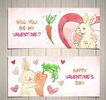 情人节兔子banne