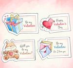 情人节元素卡片