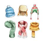 冬季围巾和帽子