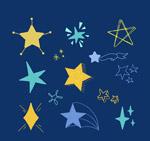 12款彩绘星星